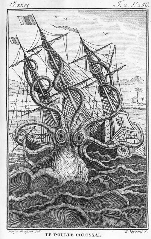 Le Pouple Colossal (Giant Octopus) from Denys-Monfort 1801